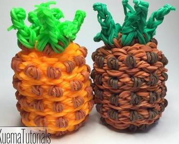 Rainbow Loom einfache 3D Ananas - 3D pineapple easy