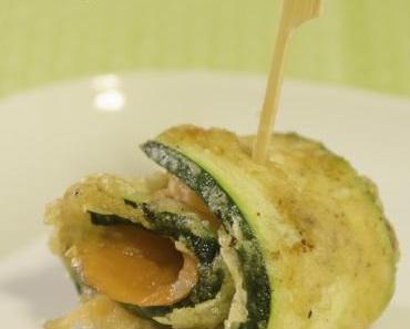 Freitagsfisch-TAPAS zum Apéro: Zucchini-Röllchen mit Räucherlachs
