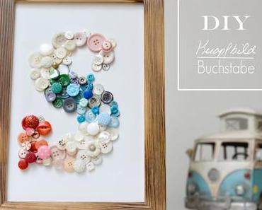 DiY Knopfbild Buchstabe - Belle & Boo