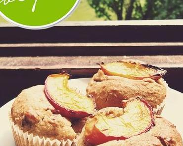 Pfirsich-Mandel-Muffins – für den veganen Kaffeeklatsch