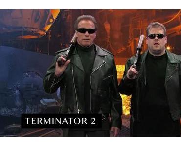 Clip des Tages: Arnold Schwarzeneggers Movies in 6 Minutes (nachgespielt von Arnie und James Corden)