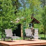 Rustikales Gartenhaus aus Paletten, Türen und Dielen – Teil 3