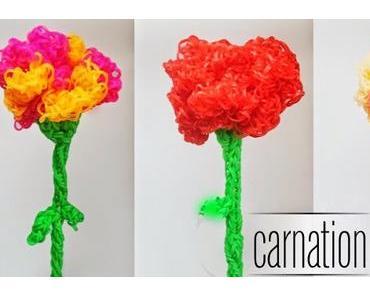 Rainbow Loom Blume Nelke - Easy carnation flower ENG Sub