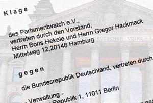 Die Klage von abgeordnetenwatch gegen den Bundestag wegen Verletzung der Informationspflicht und zur Vermeidúng von Korruption - Gerichtsverhandlung 01