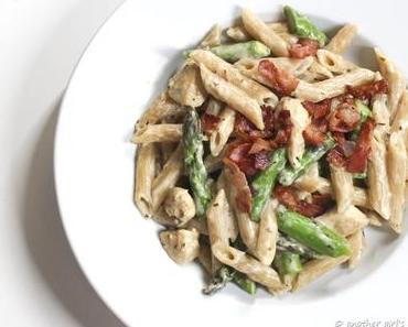 [Rezept] Spargel-Pasta mit oder ohne Hähnchen