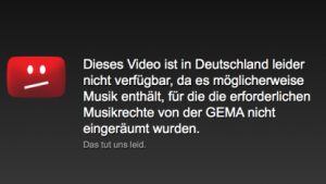 GEMA-Hinweis auf Youtube sind wettbewerbswidrig