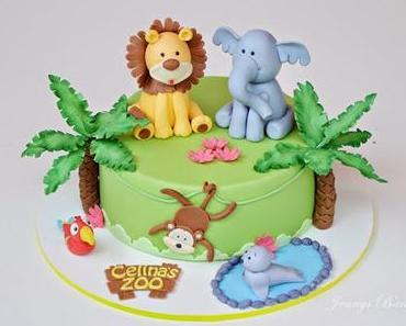 Die Tiere sind los - Eine Zoo Torte zur Konfirmation