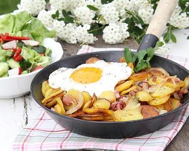 Bratkartoffeln Spiegelei