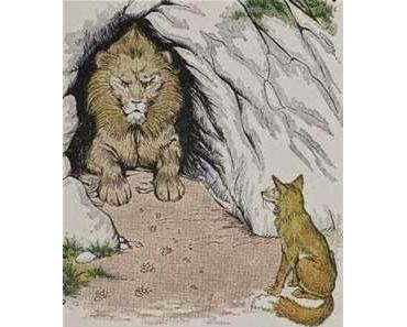 Der Löwe und der Fuchs • Verräterische Spuren • Fabel Babrios