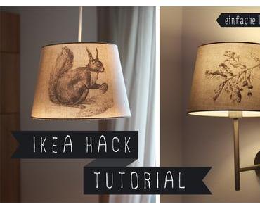 DIY: Aufkleber für Lampenschirm mit Transfertechnik (IKEA HACK)